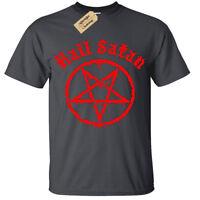 Kids Boys Girls Hail Satan T-Shirt - Pentagram rock goth unholy satanic punk emo