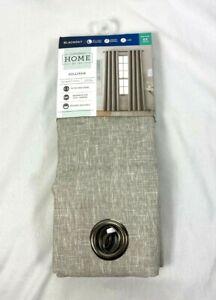 "JCPenny Home Oxide Gray Sullivan Blackout Grommet Curtain Panel, 50""x63"" 50""x95"""