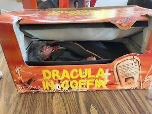 HALLOWEEN RENNOC ANIMATRONIC Dracula In Coffin *WORKS* MOTIONETTE