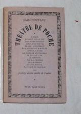 JEAN COCTEAU : THEATRE DE POCHE. EDITION ORIGINALE COLLECTIVE.