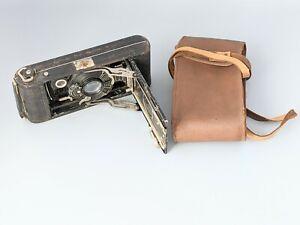 Antique Vintage Kodak No 1A Camera With Case UNTESTED Restoration or Parts