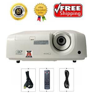 Mitsubishi XD280U DLP Projector Multimedia 3000 Lumens HDMI HD 1080i Accessories
