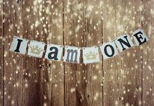 BIRTHDAY banner - I AM ONE - celebration banner - PHOTO PROP banner -