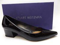 STUART WEITZMAN Women's LARGO Black Patent Leather Heels Pumps SZ 7.0 M  D4722