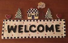 Ceramic WELCOME Sign