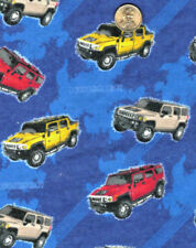 """General Motors HUMMER Truck Toss on Shaded Blue Flannel  62""""x 42"""""""