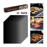 10 Stück Grillmatte  Antihaft-Bratfolie Dauer-BBQ-Grillfolie Backmatte Teflon DE