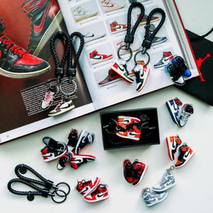 Air Jordan 1 Retro 3D Mini Sneaker Hypebeast Keychains with Sneaker Box & Bag