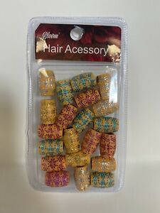 Hair Accessories: Wooden Beads For Hair Assorted Colors (21pcs per pk)