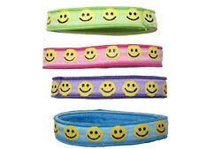 Smiley Face Ponio Hairband Hair Elastics School Bobbles Hair Accessories UK