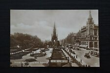 More details for postcard princes street looking west edinburgh scotland unposted real photo rp
