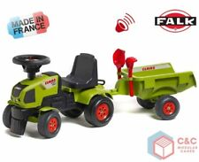 CLAAS AXOS Ride On Tractor Toy FALK Kids Play Farm Sit Scoot Loader Trailer