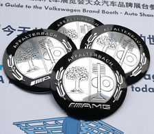 "4x 56mm 2.2"" Car Wheel Center Cap Emblem Badge Decal for AMG A B C E S R series"