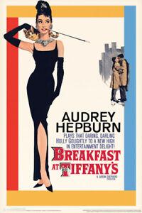 Breakfast at Tiffanys Audrey Hepburn Movie Poster 12x18 inch