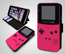 Retro Nintendo Game Boy Color Rosa peculiar Gadget De Cuero a presión Funda Protectora De Teléfono