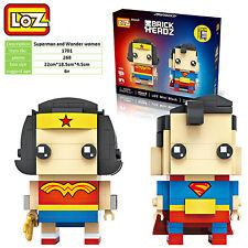 Superman and Wonder woman wedding engage gift toy souvenir LOZ iBLOCK  Nano