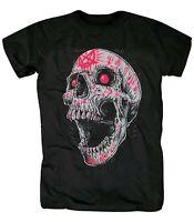 Skull Gothic Markings T-Shirt (rock horror biker festival graffiti t shirt)