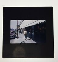 Vintage Color Photo Slide Of Two Women Shopping Walking 50's