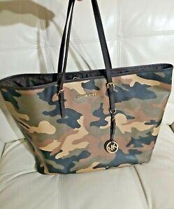 Michael Kors Bag Jet  Camo Camouflage Tote Handbag 20x11! Rare!