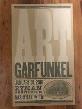 ART GARFUNKEL 3/30/2016 Ryman Auditorium HATCH SHOW PRINT Poster NASHVILLE