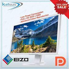 "White Monitor Eizo FlexScan EV2336W 23"" FULL HD 1920 x 1080 IPS PC Computer"