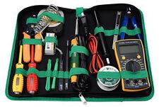 16 un. BST-113 Herramientas Multi-Funcional Kit de Herramientas Reparación Soldadura Multímetro Digital