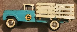 Vintage Nylint Ford Ranch Stake Truck Flatbed Farm F-series 4500 Blue 1961-64