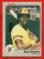 1983 Fleer #360 Tony Gwynn NEAR MINT+ ROOKIE RC HOF San Diego Padres FREE SHIP