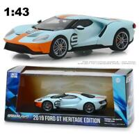 "GREENLIGHT 86159 2019 FORD GT #9 HERITAGE EDITION ""GULF"" COLORS DIECAST CAR 1:43"