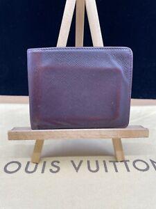 LV2099 LOUIS VUITTON Burgundy Taiga Leather Bifold Wallet   Make offer! USA
