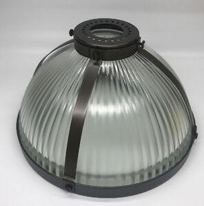 Pottery Barn Ribbed Glass Pendant Light Hood, Large, Bronze, Free Shipping
