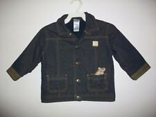Girls Size 24 Months ABSORBA Lined Denim Jacket With Attached Stuffed Animal