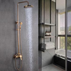 Dusch Armatur Duschset Regendusche Duschsystem Antik Retro Nostalgie