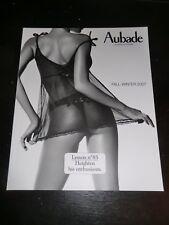 SEXY Aubade Lingerie Catalogue 2007 BUTT Fashion Model Thong Fall Winter NUDE