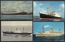 NETHERLAND 1940's FOUR SHIP PC's OF THE HOLLAND-AMERICA
