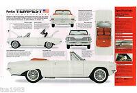 1961 / 1962 / 1963 PONTIAC TEMPEST LeMans Le-Mans SPEC SHEET / Brochure / Flyer