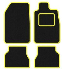 Fiat Punto Grande 06-Terciopelo Black/yellow Trim coche Mat Set