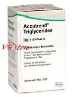ROCHE ACCUTREND 25 Blood Test Strips for Triglycerides Monitoring EXP Feb 2020