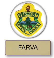 SUPER TROOPERS FARVA POLICE NAME BADGE & BUTTON HALLOWEEN COSTUME PIN FASTENER