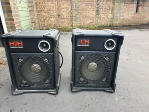2x HH Electronic PRO-100 PA / Club Loudspeakers 100W H&H Speakers Bass Acoustic