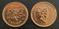Canada 1998W Proof Like Gem UNC Small Cent Penny!!
