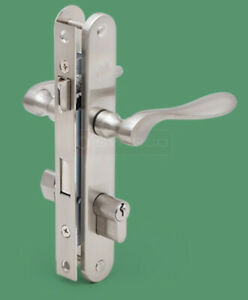 Storm Door Mortise Hardware Kit 40-193 Satin Nickel Pella Keyed Locking