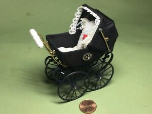 "Heidi Ott Baby Carriage - 1"" scale -dated 2000 orig. box/Switzerland"