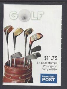 "Australia 2011 Golf ""Bag"" Booklet Phil 254131 B498"