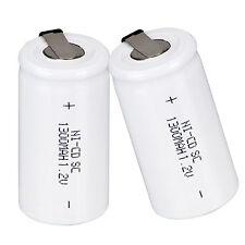 Prix Bas 1 Pièce 1.2V 1300mAh SC Sub C Ni-Cd Batterie Rechargeable Blanc Piles