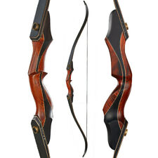 """60"""" Wooden Riser Takedown Recurve Bow Right Hand Archery Hunting 30-50lb Target"""