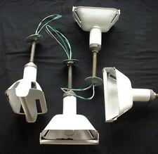 (1) 1939 VTG BENJAMIN Porcelain Enamel AISLE Light Pendant Industrial White +