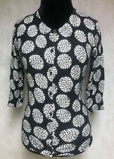 Merona Women's Black and White Long Sleeve Cardigan Sweater Size M