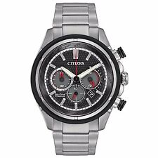 Citizen Eco-Drive Men's CA4240-82E Super Titanium Chronograph Bracelet Watch