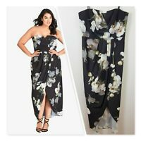 [ CITY CHIC ] Womens Strapless Floral Dress | Size XS or AU 14 / US 10